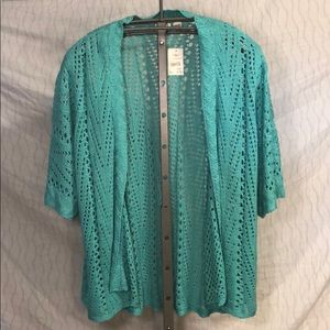 Short Sleeve Crochet Cardigan